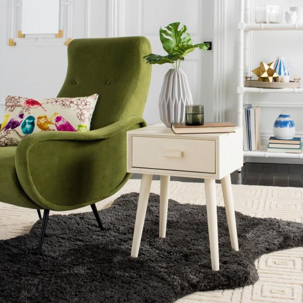 Safavieh Lyle Distressed White Storage Side Table ACC5702A - The ...