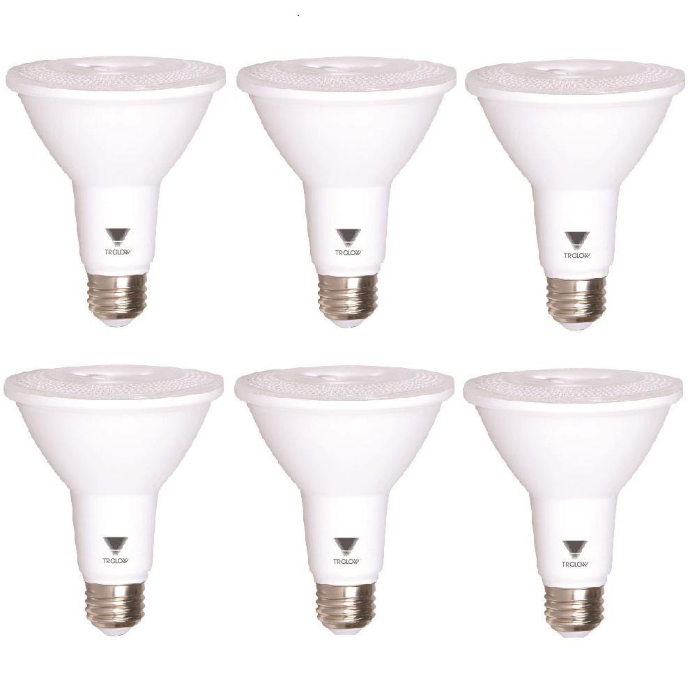 75-Watt Equivalent PAR30 Dimmable 850-Lumen LED Light Bulb Daylight (6-Pack)