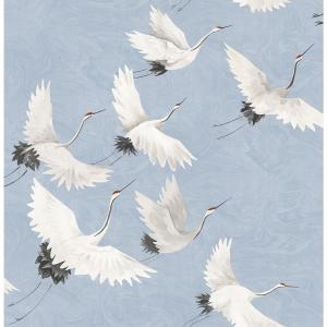 Windsong Periwinkle Crane Periwinkle Wallpaper Sample