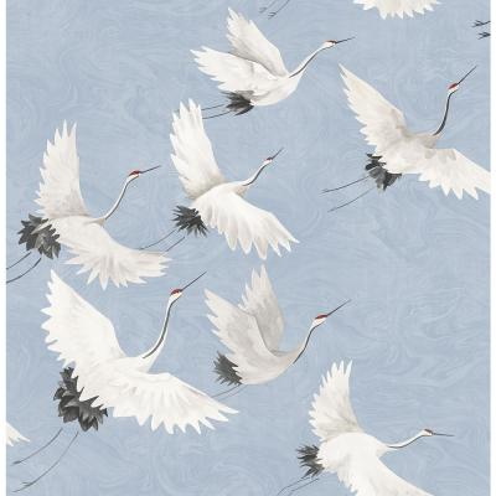 Windsong Periwinkle Crane Periwinkle Wallpaper Sample
