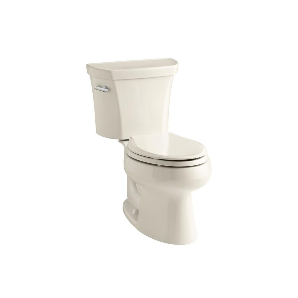 KOHLER Wellworth 2-piece 1.6 GPF Single Flush Elongated Toilet in Almond
