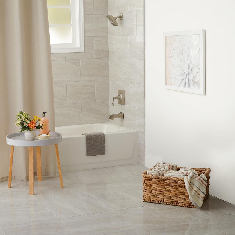 Hamilton Linear Gray 1/2 in. x 12 in. Ceramic Wall Jolly Trim Tile (0.04 sq. ft. / piece)