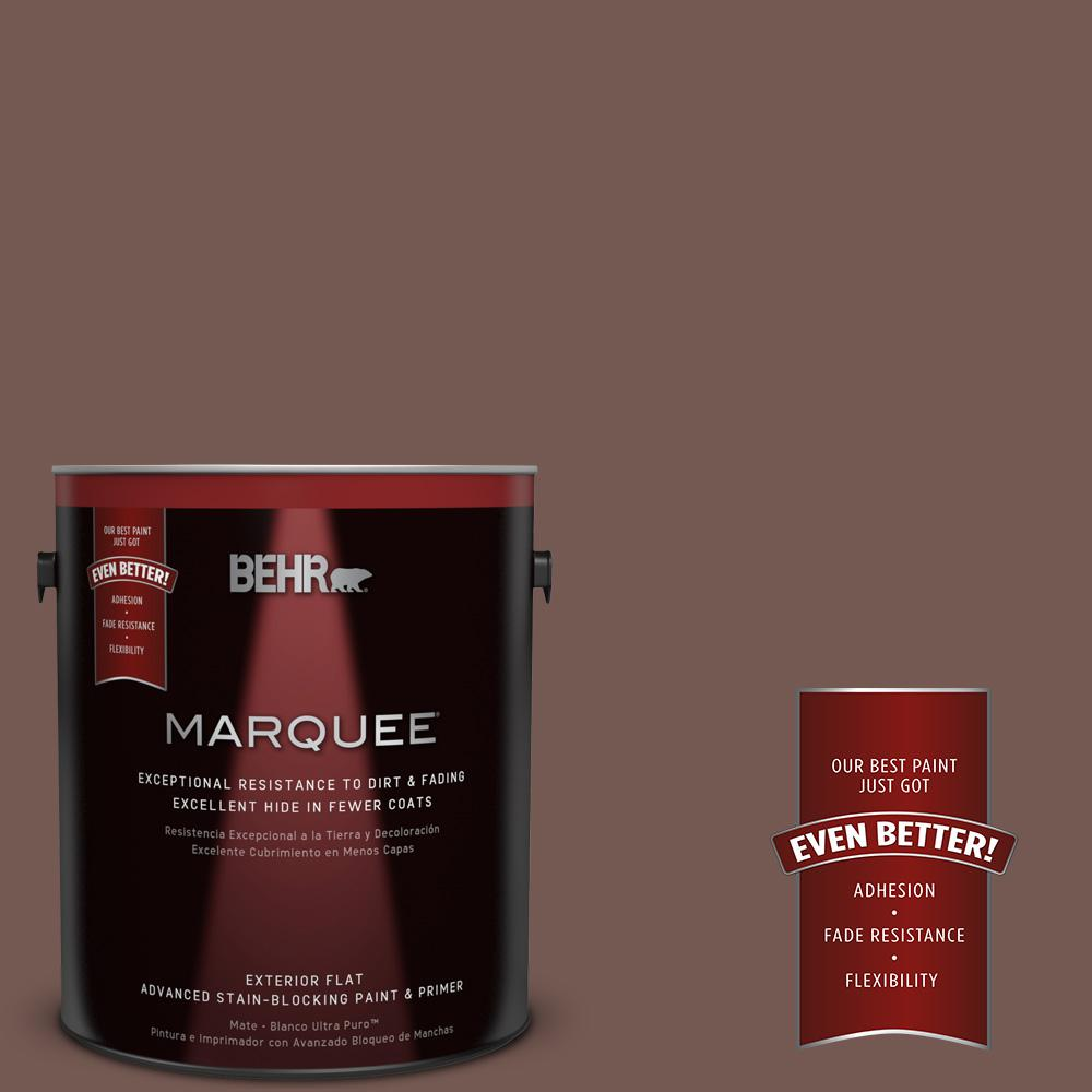1-gal. #220F-7 Yorkshire Brown Flat Exterior Paint
