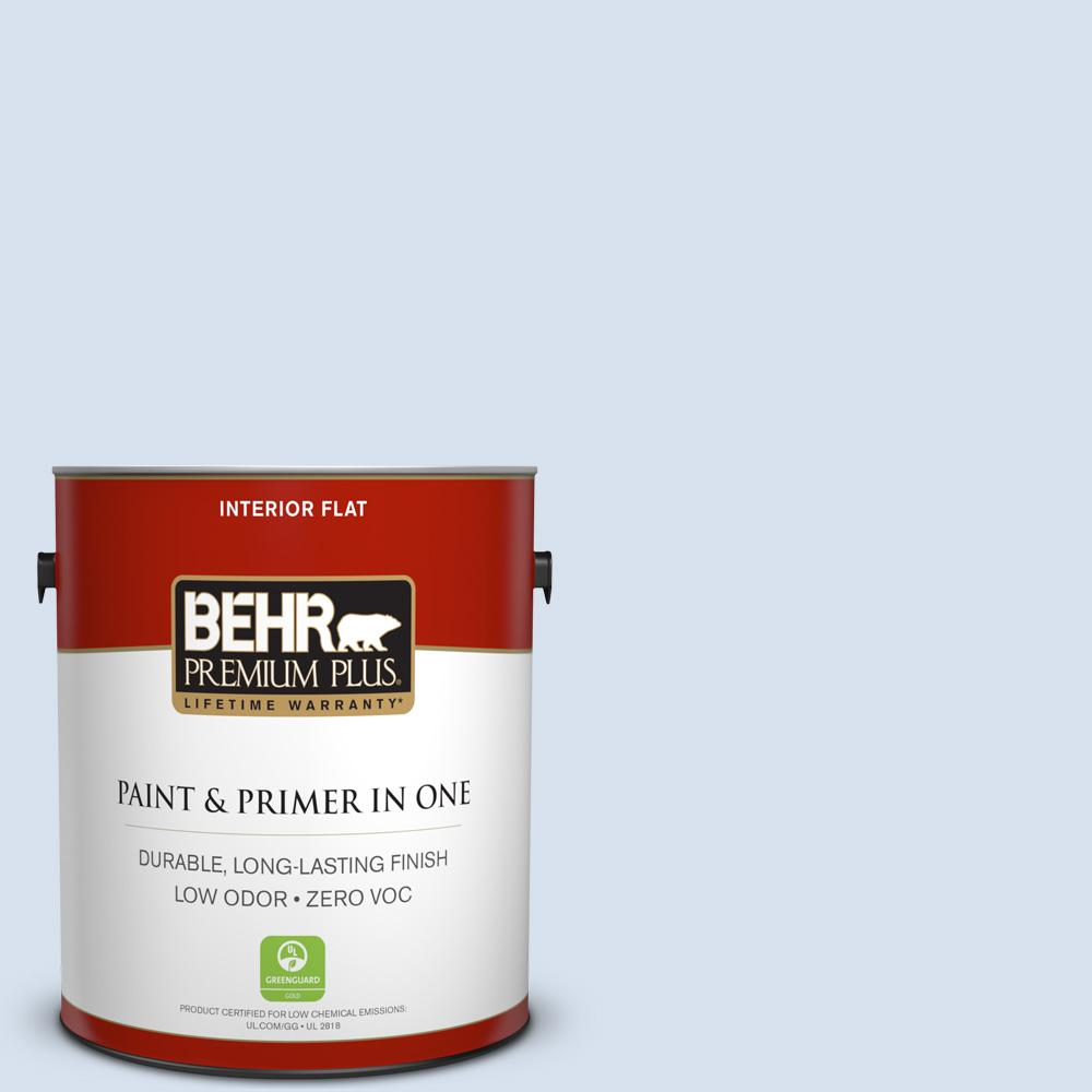 BEHR Premium Plus 1-gal. #580A-2 Icy Bay Zero VOC Flat Interior Paint
