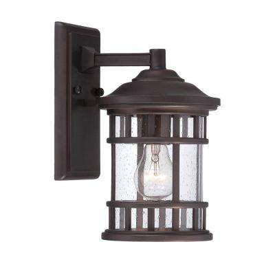 New Vista Collection 1-Light Outdoor Architectural Bronze Wall Mount Light