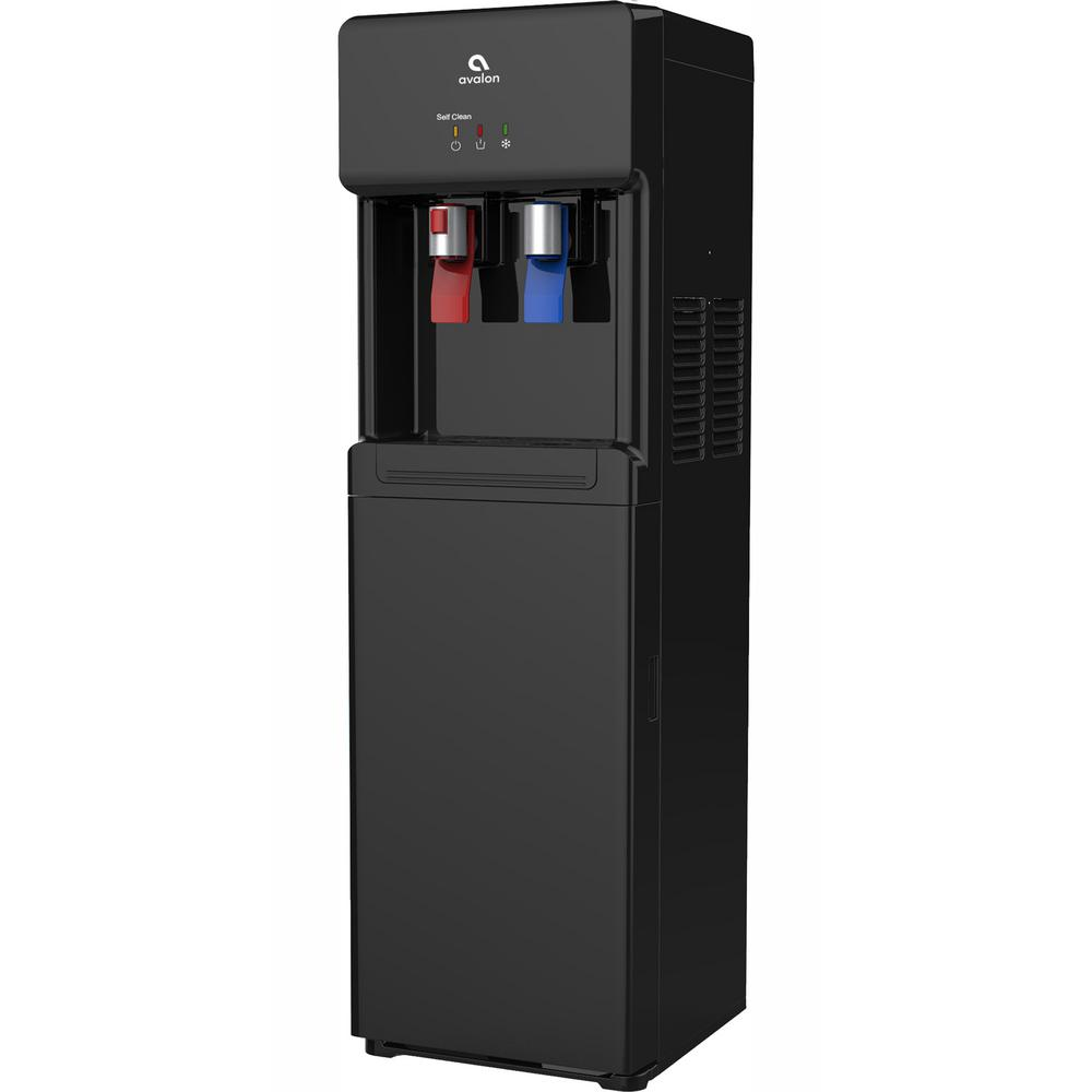 Self Cleaning Bottle Less Water Cooler Dispenser With Filter Hot Cold Child Safety Lock Ul Energy Star In Black