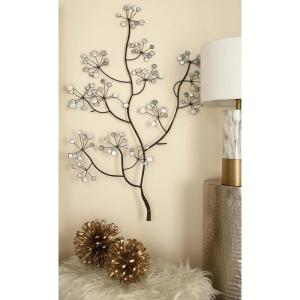 43 inch x 30 inch Iron and Arcylic Tree Branch Wall Decor by
