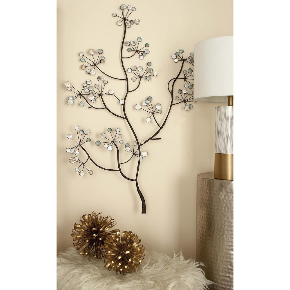 Litton Lane 43 In X 30 In Iron And Arcylic Tree Branch Wall Decor
