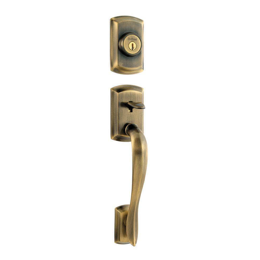 Avalon Antique Brass Dummy Handleset Less Interior