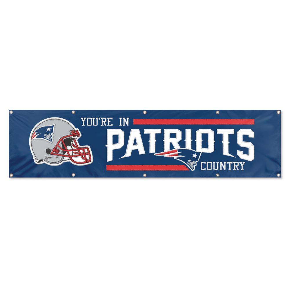 8 ft. x 2 ft. NFL License Patriots Team Banner