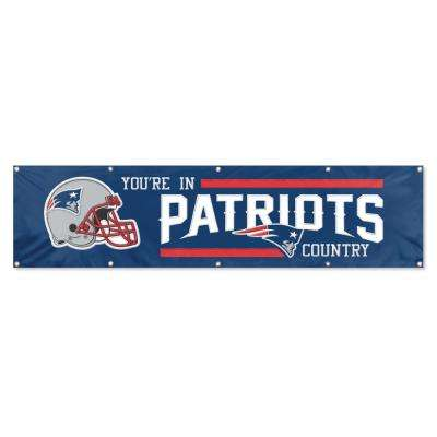 8 ft. x 2 ft. NFL License Patriots Team Banner