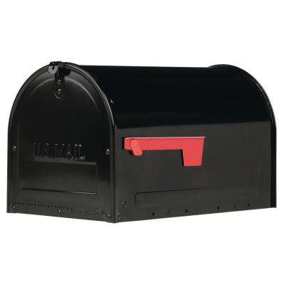 Marshall Large, Locking, Steel, Post-Mount Mailbox, Black