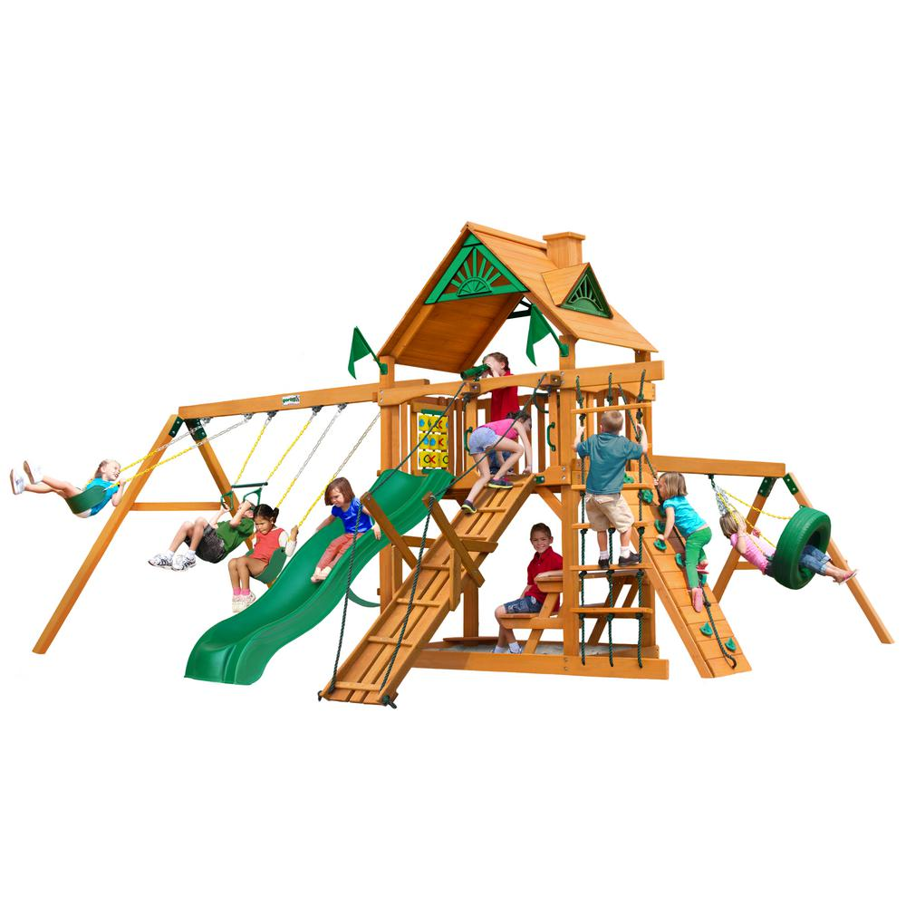 Frontier Cedar Swing Set with Natural Cedar Posts