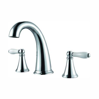 Kaylon 8 in. Widespread 2-Handle Bathroom Faucet in Polished Chrome and Ceramic