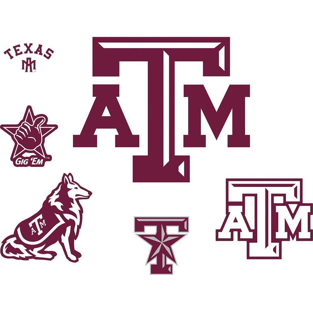 Fathead Texas Am Logo Sheet Wall Decal