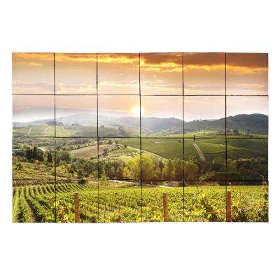 Vineyard5 36 in. x 24 in. Tumbled Marble Tiles (6 sq. ft. /case)