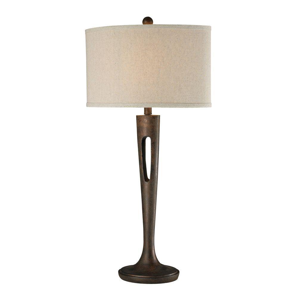 Titan Lighting Martcliff 35 in. Burnished Bronze Table Lamp