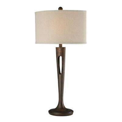 Martcliff 35 in. Burnished Bronze Table Lamp