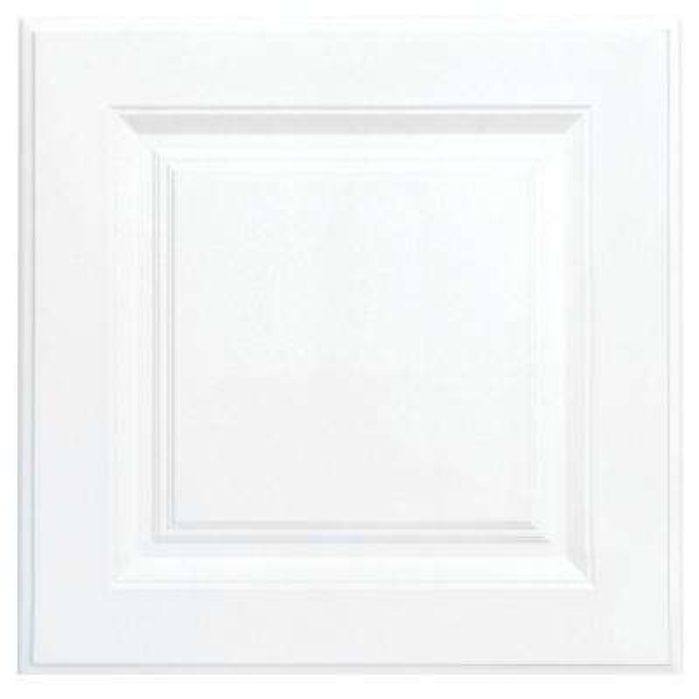12.75x12.75 in. Cabinet Door Sample in Hampton Satin White
