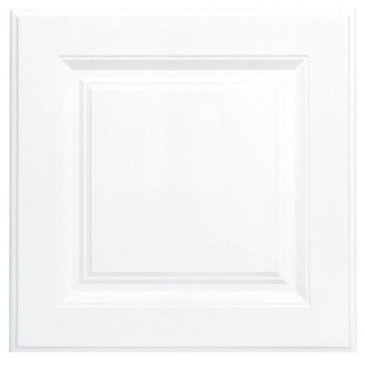 Hampton 12 3/4 x 12 3/4 in. Cabinet Door Sample in Satin White
