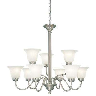 Riva 9-Light Brushed Nickel Chandelier