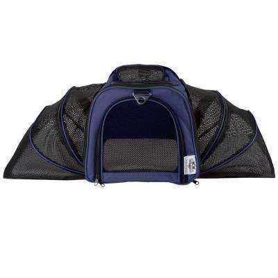 Airline Compliant Expandable Navy Pet Travel Bag