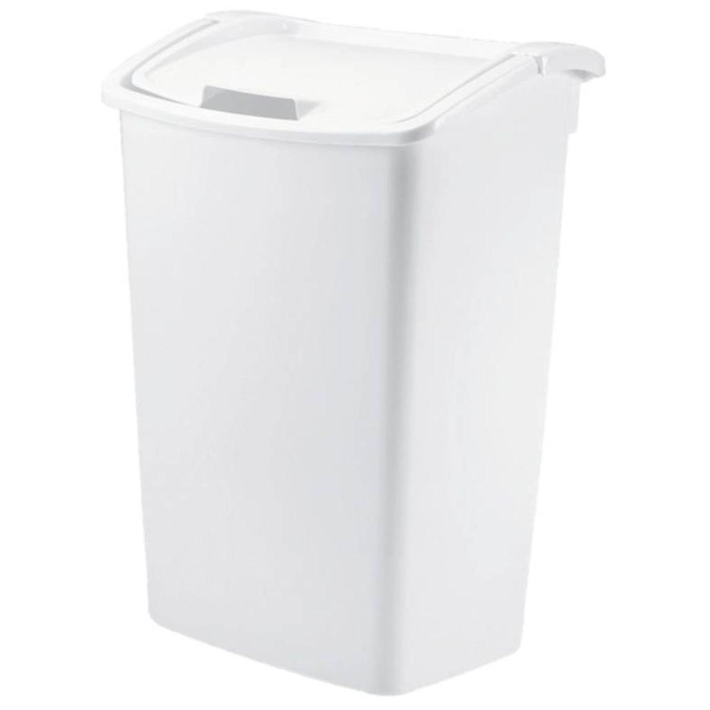 11 25 Gallon Kitchen Trash Can Nursery Bathroom Garage Plastic Tall Swing Lid