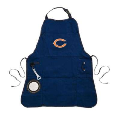 Chicago Bears NFL 24 in. x 31 in. Cotton Canvas 5-Pocket Grilling Apron with Bottle Holder