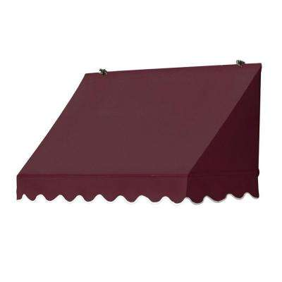 4 ft. Traditional Awning Replacement Cover (26.5 in. Projection) in Burgundy