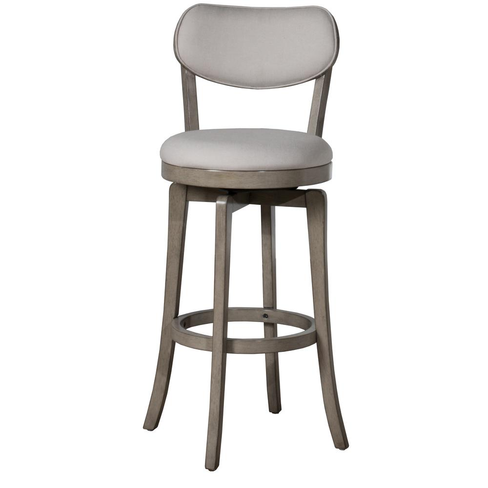HillsdaleFurniture Hillsdale Furniture Sloan 25.25 in. Aged Gray Counter Stool