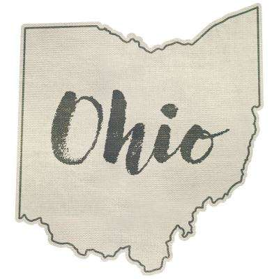 Beige Ohio Wall Decal