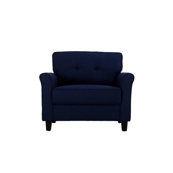 Lifestyle Solutions Harlem r Blue Upholstered Large Armchair