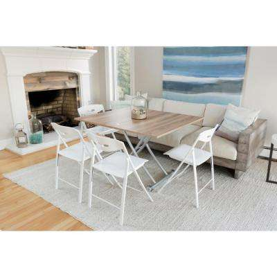 Transforming X Light Wood Finish Coffee and Dining Table