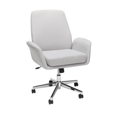 Core Collection Gray Modern Fabric Upholstered Office Chair, Cushioned Arm Chair