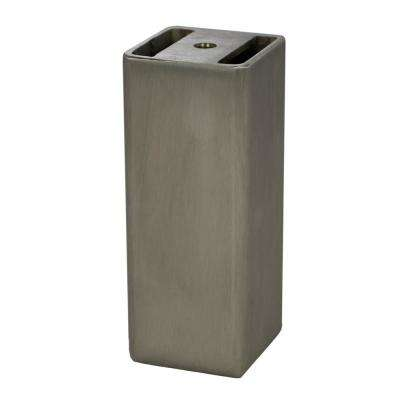 Wiltshire 2 in. x 2 in. x 5 in. Stainless Steel Furniture Foot