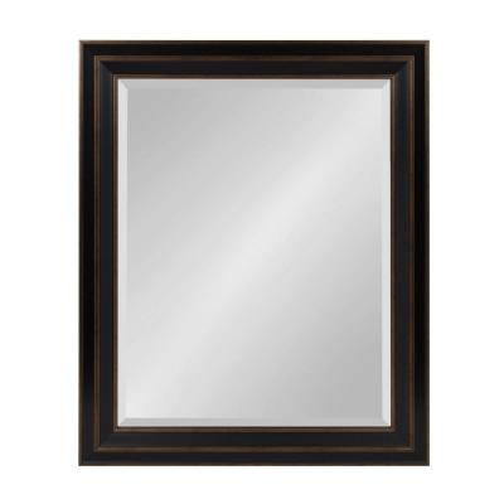 Medium Rectangle Bronze Beveled Glass Contemporary Mirror (33.63 in. H x 28.63 in. W)