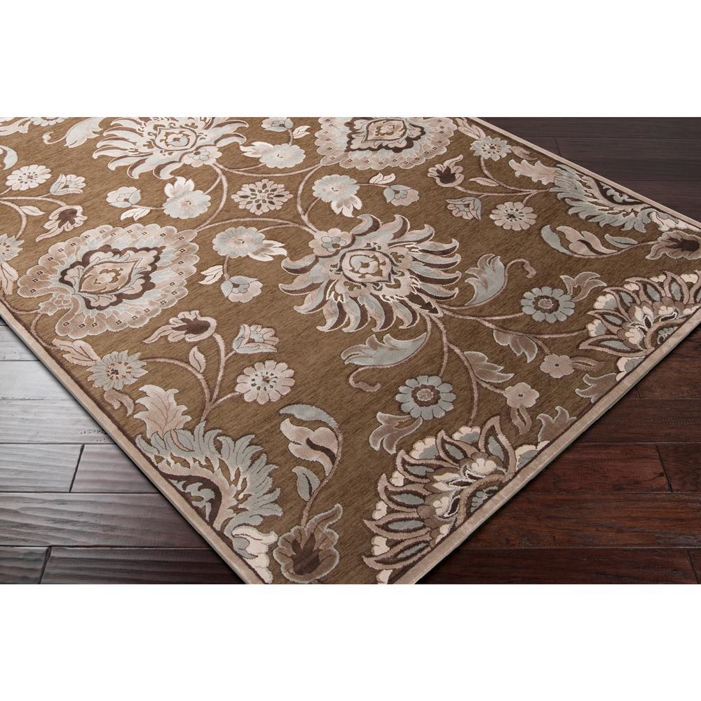 viscose shaggy design brown area rug