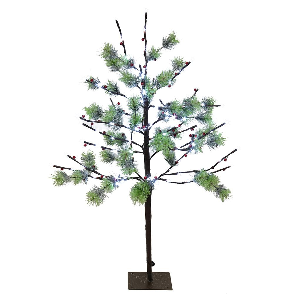 free shipping 58ba4 50fee Puleo International 3 ft. Pre-Lit Twig Tree with 120 White LED Twinkle  Lights