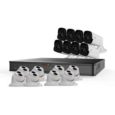Ultra HD 16-Channel 4TB NVR Surveillance System with 16 4 Megapixel Cameras and Night Vision