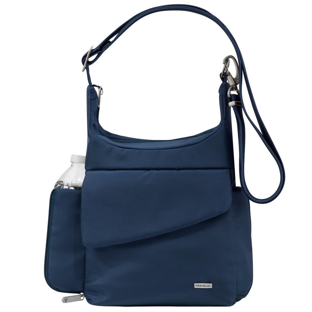 Anti-Theft Midnight Poly Messenger Bag