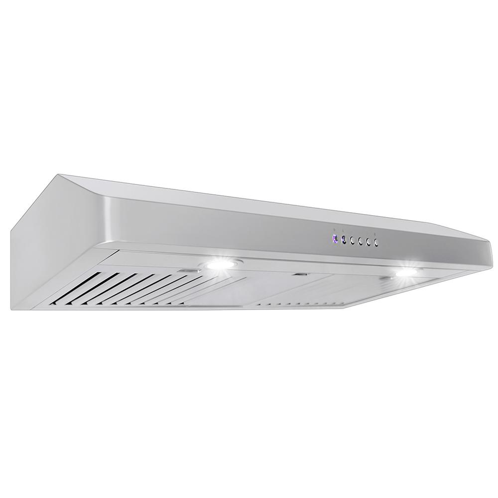 Proline Range Hoods 36 in. 600 CFM Under Cabinet Range Hood with Light in Stainless Steel