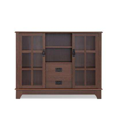 Dubbs Walnut China Cabinet
