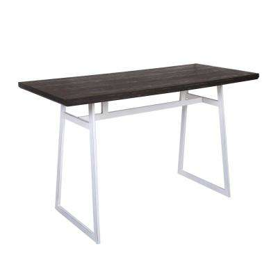 Geo Vintage White and Espresso Counter Height Dining Table