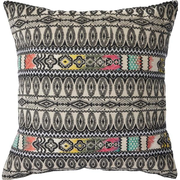 Global Multi-Color Ethnic Eclectic Geometric 20 in. x 20 in. Decorative Throw PIllow