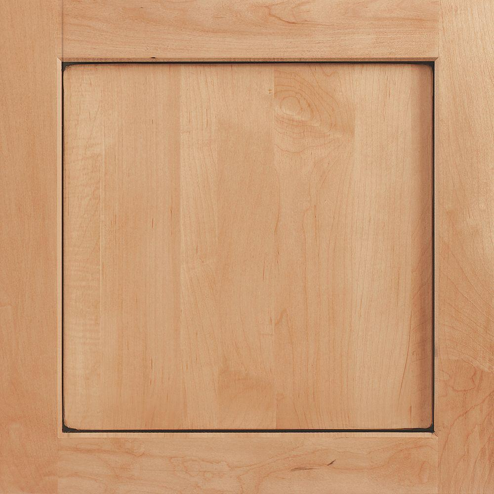 American Woodmark 14-9/16x14-1/2 in. Townsend Maple Cabinet Door Sample in Coffee Glaze