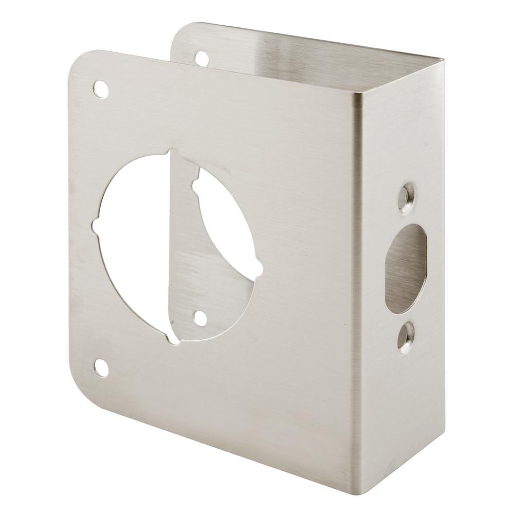 2-3/8 in. x 1-3/4 in. Stainless-Steel Lock and Door Reinforcer