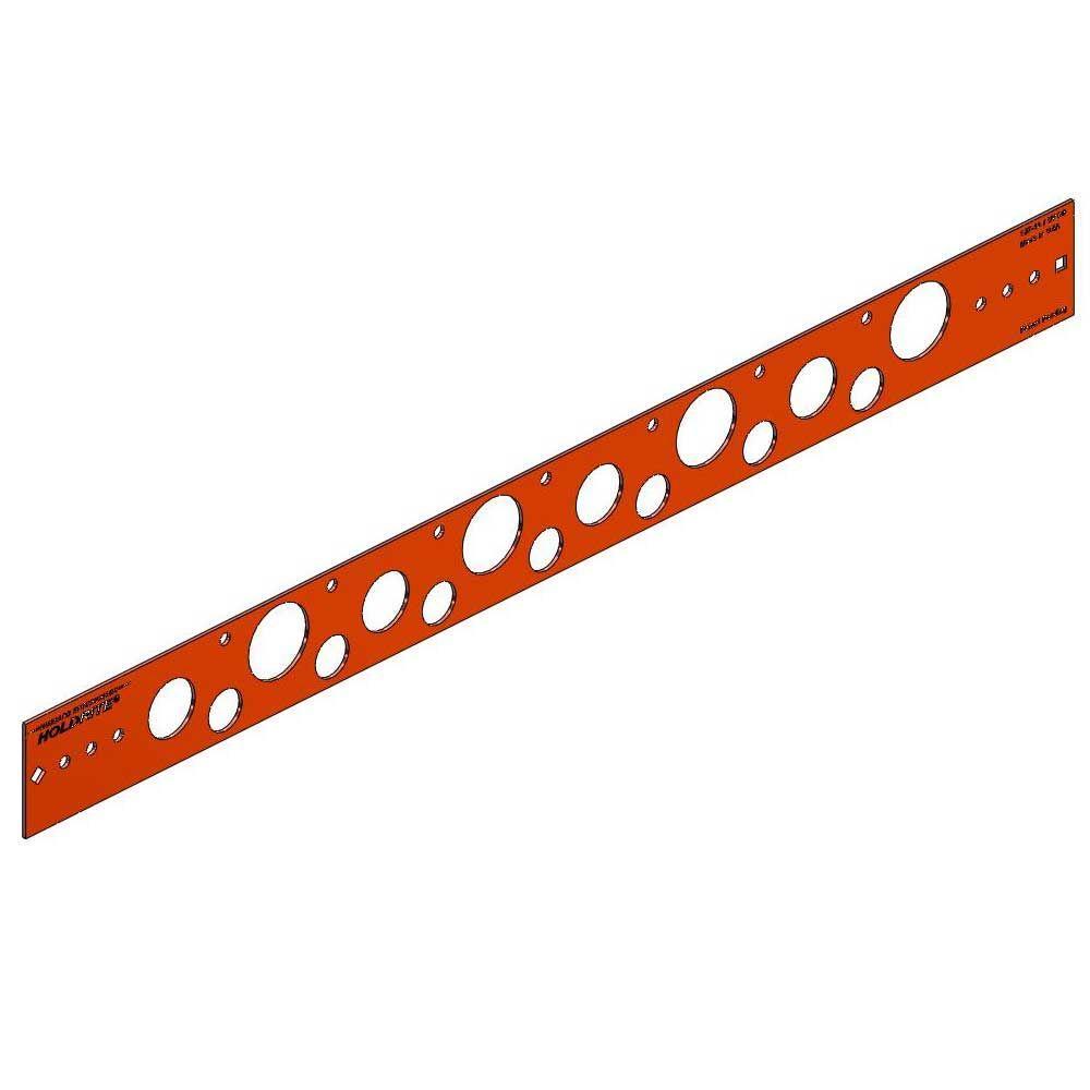 20 in. Flat Copper-Bonded Bracket for 1/2 in., 3/4 in. or 1 in. Pipe (Box of 50)