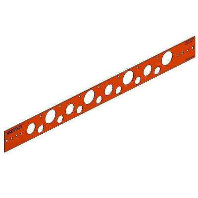 26 in. Flat Copper-Bonded Bracket for 1/2 in., 3/4 in. or 1 in. Pipe (Box of 50)
