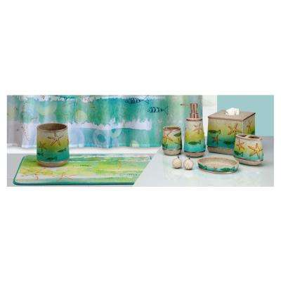By The Sea' 5-Piece Polyresin Multi-Colored Bath Accessory Collection