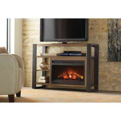 Glynnis 46 in. Media Console Infrared Modern Electric Fireplace in Medium Ash Finish